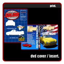 speed truck, chevy ssr club nightdvd cover insert printed